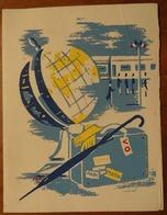 CARTE DES VOEUX 1963 ENVOYÉE PAR LE SERVICE DES VOYAGES OFFICIELS ET SÉCURITÉ DES HAUTES PERSONNALITÉS - New Year