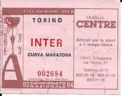 BIGLIETTO TORINO INTER 1983-84 - Calcio