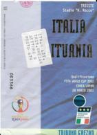 Biglietto ITALIA-LITUANIA 28/03/2001 - Calcio