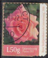 Luxembourg 2017 Oblitéré Used Fleur Rose Indépendance Du Luxembourg SU - Oblitérés
