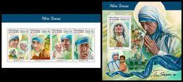 GUINEA 2018 - Mother Teresa. M/S + S/S. Official Issue - Mother Teresa