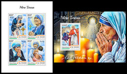 NIGER 2018 - Mother Teresa, M/S + S/S. Official Issue - Mother Teresa