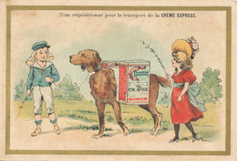N 1- -CHROMOS  -  CREME EXPRESS CH. JUX  PARIS  TOM REQUISITIONNE POUR LE TRANSPORT - Confectionery & Biscuits