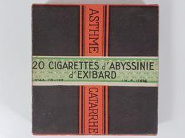 Paquet Ancien Années 20 Cigarettes D'Abyssinie Exibard Asthme Pharmacie Cabinet Curiosité PLEIN NEUF SCELLE INTROUVABLE - Boites à Tabac Vides