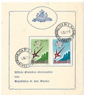 World Fair Brussels 1958 San Marino - Lettres & Documents