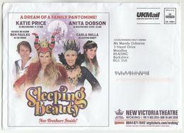 2016 NEW VICTORIA THEATRE Woking ADVERT Cover SLEEPING BEAUTY Anita Dobson Katie Price Ppi C9 10001 Prepaid Stamp Gb - Theatre