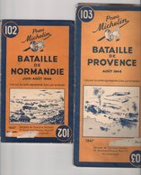 Cartes Michelin De 1947 , Originales 102 & 103 : Batailles De Normandie Et De Provence :  Juin-aout 1944 - Callejero