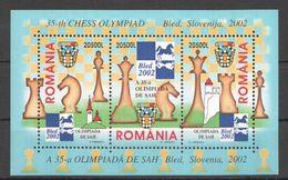 2002 Romania Chess MNH ** BLOCK - Chess