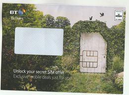 2018 GB Illus ADVERT Cover  BT SIM CARD MOBILE Telecom Prepaid Royal Mail  C9 10002  Ppi Stamps Telephone - Telecom