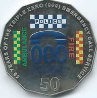Australia - Elizabeth II - 2011 - 50 Cents - 50 Years Of Triple Zero - KM1624 - Moneta Decimale (1966-...)