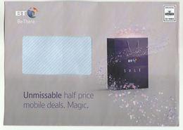 2018 GB Illus ADVERT Cover  BT TELECOM MOBILE DEAL Prepaid Royal Mail  C9 10002  Ppi Stamps Telephone - Telecom