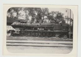 Photo Ancienne Locomotive à Vapeur (train, Chemin De Fer), A Identifier 9 X 13 Cm - XVIII - Trains