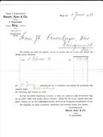 Rüesch, Kunz & Cie, Tabak- Und Cigarrenfabrik, Burg Bei Menzike. Meldung Der Erhebung Eines Rechnungbetrag Per Nachnahme - Suisse
