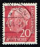 Bund 1954, Michel# 185 Y O Heuss Fluoreszierend - [7] República Federal