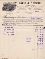 Bünte & Remmler, Frankfurt A,. Main. Rechnung 1909 Nach Menziken (Schweiz) - Elektrizität & Gas