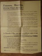 TRACT DISTRIBUÉ LORS DE JOURNÉE DE LA FEMME LE DIMANCHE 5 MARS (certainement) 1972 À VALENCE (Drôme) - Historische Documenten