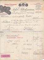 Joh. E. Bleckmann, Phönix-Stahlwerke, Soliongen. Rechnung 1907 Nach Menziken (Schweiz) - Deutschland