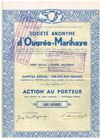 Titre Ancien - Sté Anonyme D'Ougrée-Marihaye - Titre De 1935 - N° 274419 - Mines