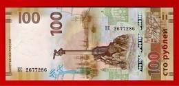 RUSSIA 100 RUBLES P-NEW 2015 COMMEMORATIVE CRIMEA UNC - Russie