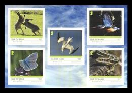 Isle Of Man 2019 Mih. 2460/64 Isle Of Man Wildlife. Fauna. Hares. Butterflies. Birds (self-adhesive) MNH ** - Man (Ile De)