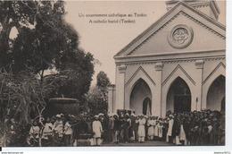 Un Enterrement Catholique Au Tonkin - Vietnam