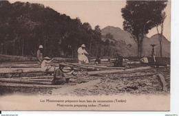 Les Missionnaires Préparent Leurs Bois De Construction (Tonkin) - Vietnam