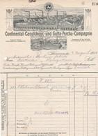 Continental-Caoutchouc- Und Gutta-Percha-Compagnie, Hannover. Rechnung 1908 Nach Menziken (Schweiz) - Automobil