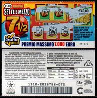 Gratta E Vinci - Nuovo Sette E Mezzo  7 1/2 - Biglietti Della Lotteria