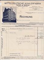 Mitteldeutsche Kühlerfabrik Teves & Braun, Frankfurt A. M.. Rechnung 1911 Nach Menziken (Schweiz) - Automobil