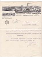 Chemische Fabrik Flörsheim A. Main. Mitteilung Betreffend Rechnung 1915 Nach Menziken (Schweiz) - Deutschland