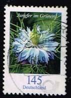 Bund 2018, Michel# 3351 O  Blumen: Jungfer Im Grünen - BRD
