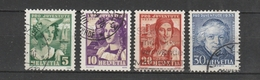 SVIZZERA  Us  1933   MI  266-69   -   Vedi Foto ! - Svizzera