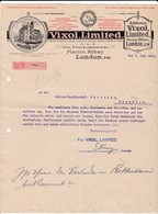 Letter VIXOL Ltd. London S. W. Distilleries, With Nice Picture, 1914, To Menziken (Switzerland) - United Kingdom