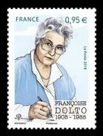 France 2018 Mih. 7185 Medicine. Pediatrician And Psychoanalyst Francoise Dolto MNH ** - Neufs