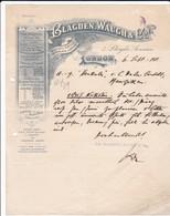 Blagden, Waugh & Co, Chemicals, London, Letter 1911 To  Herkules, Menziken (Switzerland) - United Kingdom