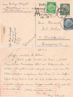 Germany Reich 1941 With Imprinted Stamp 6pf + Two Stamps  Cancelled Messe Leipzig Früjahr 1941 - Deutschland