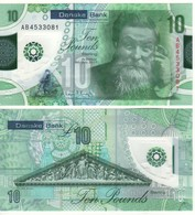 IRELAND  Northern  Newly Issued 10 Pounds  DANSKE Bank Polimer   2019  UNC - Irlande
