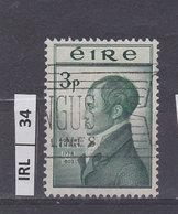 IRLANDA   1953Robert Emmet 3 Usato - 1949-... Repubblica D'Irlanda