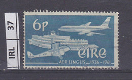 IRLANDA   1961Anniversario Aerolinee Lingus 6 Nuovo Traccia Linguella - 1949-... Repubblica D'Irlanda