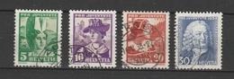 SVIZZERA  Us  1934  Mi 281-84   -     VEDI FOTO ! - Svizzera