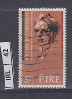 IRLANDA   1965W.B. Yeats  5 Usato - 1937-1949 Éire