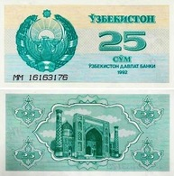 Uzbekistan 25 Sum 1992 UNC - Uzbekistan
