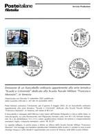 Italia 2002 BOLLETTINO ILLUSTRATIVO N.14 SCUOLA NAVALE MOROSINI VENEZIA.CON FRANCOBOLLO ANNULLO FDC. - 6. 1946-.. Repubblica