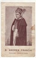 Santino Antico Beato Andrea Franchi Da Pistoia - Religione & Esoterismo