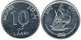 Maldives - 10 Laari 2012 UNC Bank Bag - Maldives