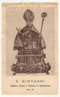 Santino Antico San Giovanni Vescovo Da Montemarano - Avellino - Religione & Esoterismo
