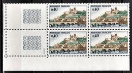 FRANCE 1968 - BLOC DE 4 TP / Y.T. N° 1567  - NEUFS** COIN DE FEUILLE - France