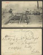 1914 --C.P.A. -- BELGIUM --Les Derniers Coups Tires Pres D'Anvers--shipped To London - Antwerpen