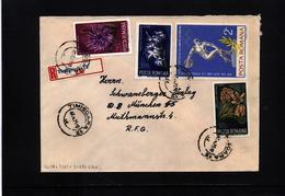 Romania 1975 Interesting Registered Letter - 1948-.... Républiques