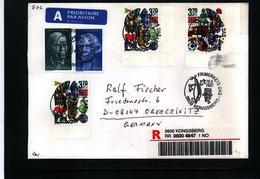 Norway 1997  Interesting Registered Letter - Norwegen